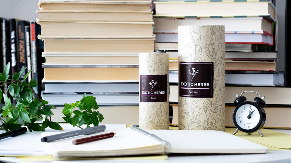 Acai a Ženšen exotic herbs